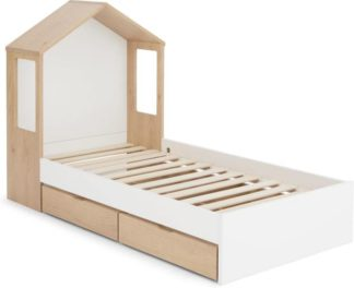 An Image of Skyline Single Bed with Storage Drawers, Pine