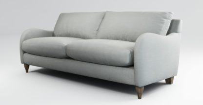An Image of Custom MADE Sofia 3 Seater Sofa, Athena Dove Grey with Light Wood Leg
