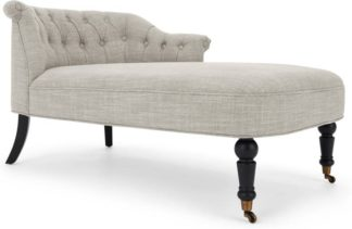 An Image of Bouji Right Hand Facing Chaise Longue, Linen Mix Taupe