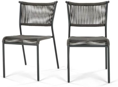 An Image of Set of 2 Kylo Dining Chairs, Grey