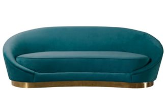 An Image of Selini Three Seat Sofa - Peacock