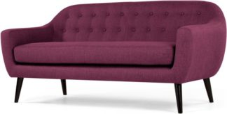 An Image of Ritchie 3 Seater Sofa, Plum Purple