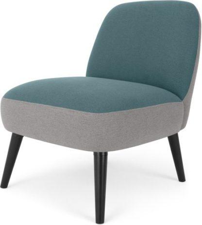 An Image of MADE Essentials Kada Accent Armchair, Sherbert Blue