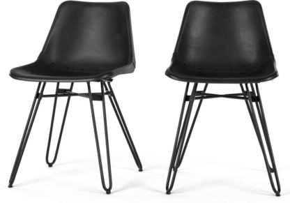An Image of Set of 2 Kendal Dining Chairs, Black