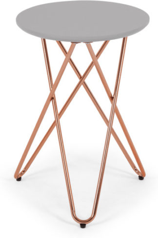 An Image of Eibar Side Table, Grey and Copper
