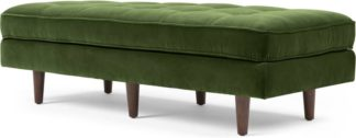 An Image of Scott Ottoman Bench, Grass Cotton Velvet