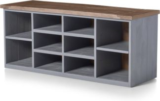 An Image of Iona Hallway Storage, Grey and Pine