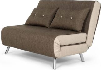 An Image of Haru Small Sofa Bed, Woodland Brown