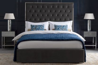 An Image of Lavinia Storage Bed - Storm Grey