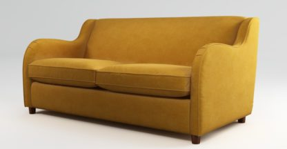 An Image of Custom MADE Helena Sofabed with Memory Foam Mattress, Plush Turmeric Velvet