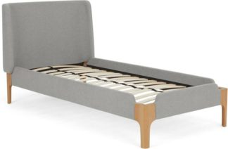 An Image of Roscoe Single Bed, Light Grey