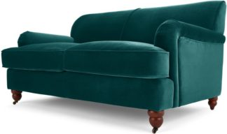 An Image of Orson 2 Seater Sofa, Seafoam Blue Velvet