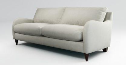 An Image of Custom MADE Sofia 3 Seater Sofa, Plush Silver Velvet
