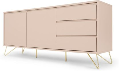An Image of Elona Sideboard, Pink and Brass