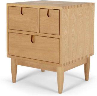 An Image of Penn Multi-Drawer Bedside Table, Oak