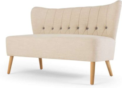 An Image of Charley 2 Seater Sofa, Biscuit Beige