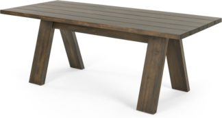 An Image of Telmo Garden Large Dining Table, Acacia