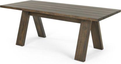 An Image of Telmo Garden Large Dining Table, Acacia