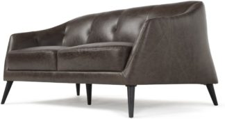 An Image of Nevada 2 Seater Sofa, Antique Grey Leather