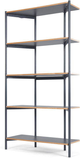 An Image of MADE Essentials Mino Tall Shelves, Grey