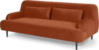 An Image of Giselle 2 Seater Sofa, Nutmeg Orange Velvet