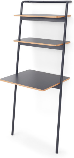 An Image of Made Essentials Mino Leaning Desk, Grey