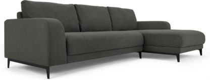 An Image of Luciano Right Hand Facing Chaise End Corner Sofa, Hudson Grey