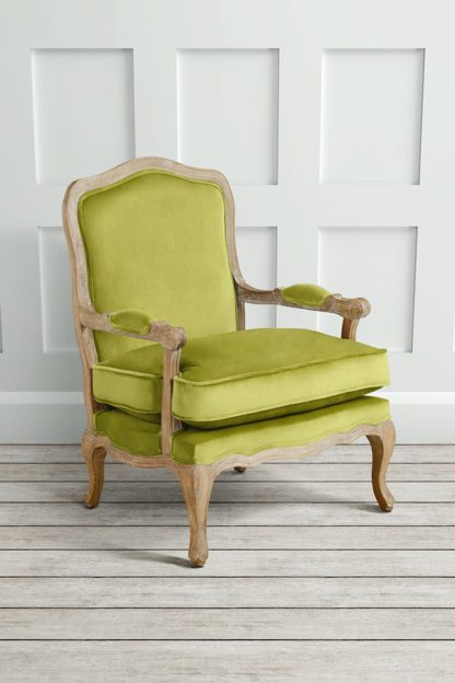 An Image of Le Brun - French Oak Lime Occasional Armchair