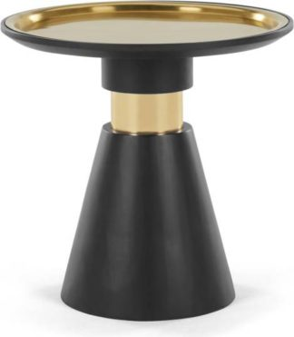 An Image of Bimba Side Table, Black and Brass