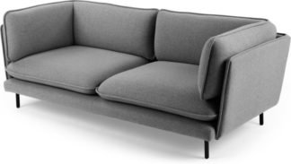 An Image of Wes 3 Seater Sofa, Elite Grey