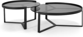 An Image of Aula Nesting Coffee Table, Black and Grey