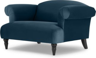 An Image of Claudia Loveseat, Velvet Midnight Blue