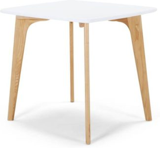 An Image of Fjord 4 Seat Square Compact Dining Table, Oak and White