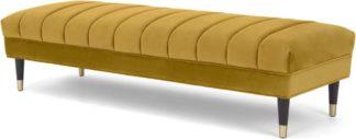 An Image of Evadine Ottoman Bench, Vintage Gold Velvet