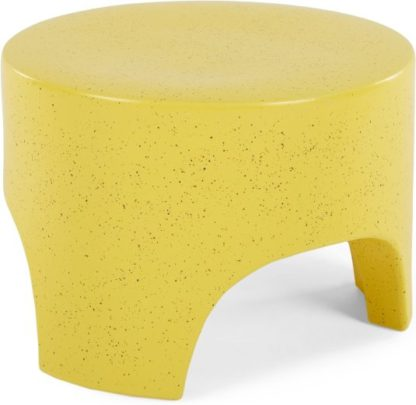 An Image of Rune Earthenware Tri Stool, Yellow Speckle