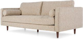 An Image of Scott 3 Seater Sofa, Amber Basketweave