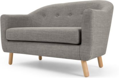 An Image of Lottie 2 Seater Sofa, Chalk Grey