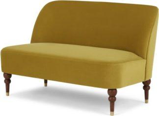An Image of Harpo 2 Seater Sofa, Vintage Gold Velvet