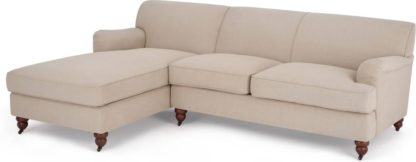 An Image of Orson Left Hand Facing Chaise End Sofa, Natural Weave