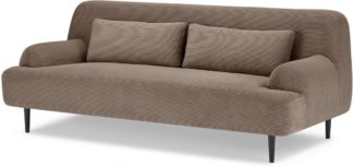 An Image of Giselle 2 Seater Sofa, Taupe Corduroy Velvet