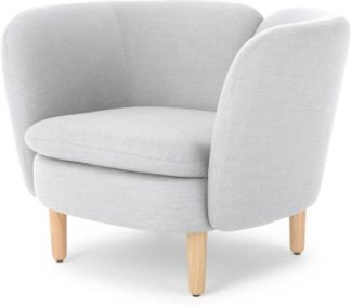 An Image of Elio Accent Armchair, Snow Grey Weave