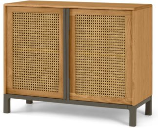 An Image of Reema Compact Sideboard, Oak & Grey