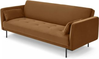 An Image of Harlow Click Clack Sofa Bed, Toffee Velvet