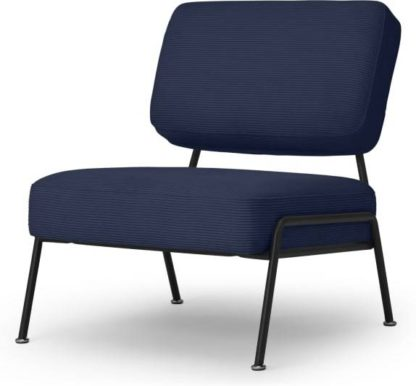 An Image of Knox Accent Armchair, Navy Corduroy Velvet