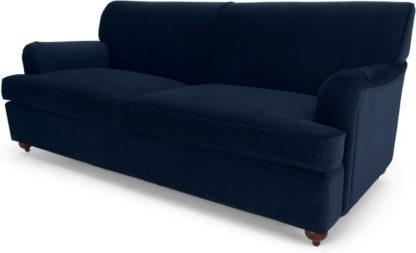 An Image of Orson Sofa Bed, Ink Blue Velvet