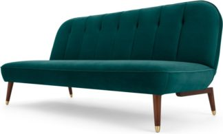 An Image of Margot Click Clack Sofa Bed, Velvet Seafoam Blue