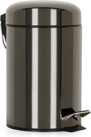 An Image of Lilo Bathroom Pedal Bin 3L, Black Nickel