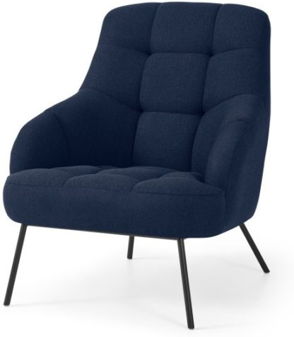 An Image of Howley Accent Armchair, Midnight Blue Weave