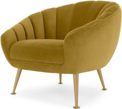 An Image of Primrose Accent Armchair, Vintage Gold Velvet