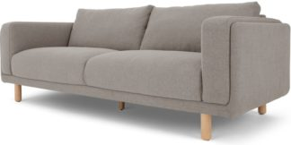 An Image of Karson 3 Seater Sofa, Mina Grey